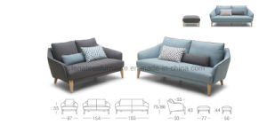 Ls0604 American Style Apartment Fiting Fabric Sofa with Footrest pictures & photos