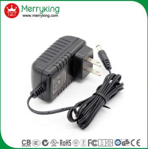 Merryking Brand Wall-Mount 12V 1A Adaptor Us Plug AC/DC Power Adapter pictures & photos