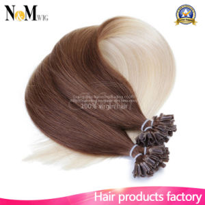 Fusion Human Hair Extensions Brazilian Afro Kinky Curly Hair Nail U Tip Keratin Hair Extensions 110g/Lot pictures & photos