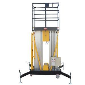 Aluminum Dual Masts Aerial Work Platform (Max Height 12m) pictures & photos