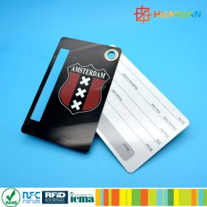 Offset Printing PVC Luggage Tag Key Tag Card with Slot pictures & photos