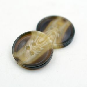 Nature Pattern Resin Four Holes Button with Laser Logo on Sides pictures & photos