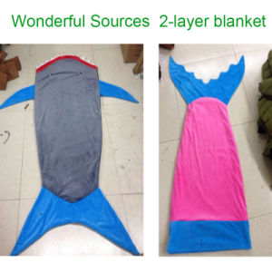 Hot Style Flannel 2016 Most Popular Mermaid Tail Blanket Knit Patterns Blanket Baby Blankets Wholesale pictures & photos