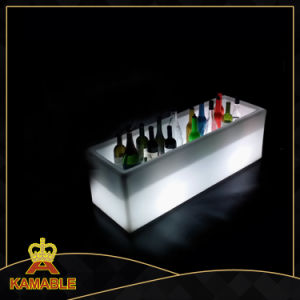 Garden Furniture Color Changing LED Cube Ice Bucket (B010) pictures & photos