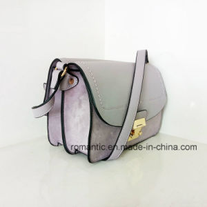 Trendy PU Lady Handbags Brand Designer Women Plush Hand Bag (Z-014)