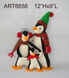 """Christmas Decoration Gift 10""""H Penguin Family pictures & photos"""