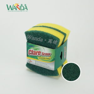 Wholesale Waist Shape High Density Cleaning Sponge Scourer for Kitchen pictures & photos