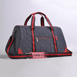 Promotion Waterproof Contrast Colour Travel Bag, Durable Nylon Weekend Luggage Bag pictures & photos