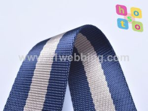 blue Stripe Polyester Nylon Webbing for Bag Strap pictures & photos