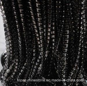 Gun Metal Claw Rhinestone Brass Cup Chain Rhinestone Chain (TCG-SS10 jet black) pictures & photos