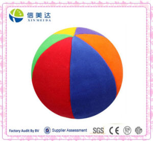 Colorful Ball Plush Baby Toy with Bell pictures & photos