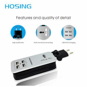 4 USB Ports Universal 3in1 Socket Travel Wall Charger pictures & photos