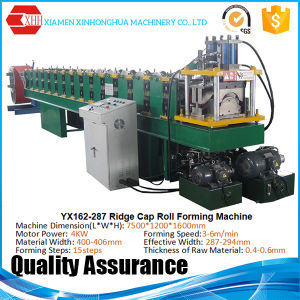 Automatic Metal Roof Ridge Cap Roofing Sheet Cold Roll Forming Machine for Sale pictures & photos