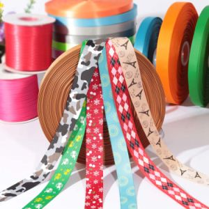 Wholesale Custom Polyester Satin Check Ribbon for Gift Wrapping pictures & photos