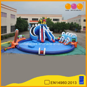 Surfing Water Park Hugh Inflatable Slide and Big Inflatable Pool (AQ01229) pictures & photos