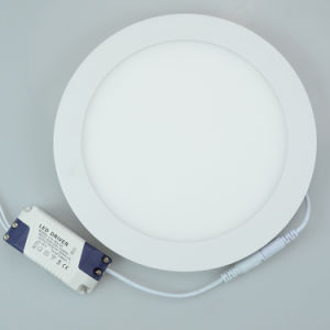 Best Price Aluminum12W Round Ultra Thin LED Panel Light pictures & photos