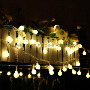 Top Quality Waterproof Battery Case Equipped Silver Wire White Bulb LED String Light pictures & photos