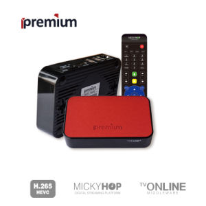 Ipremium Tvonline+TV Box with Leather Cover Quad Core 2.4G WiFi IPTV with Mickyhop OS Stalker Media Player pictures & photos