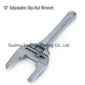 """Plunbing Tool 10"""" Adjustable Slip-Nut Wrench pictures & photos"""