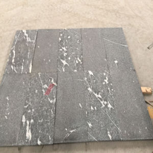 Dark Black Granite Tiles with Polished, Flamed and Brushed Surface pictures & photos