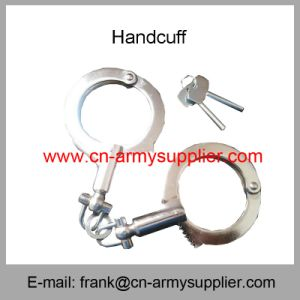 Leg Cuff-Double Lock Handcuff-Hinged Handcuff-Cop Handcuff-Police Handcuff pictures & photos