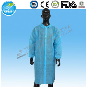 Disposable Polypropylene White Lab Coat, SBPP Uniforms pictures & photos