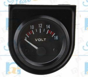 Car Auto Display Voltmeter Meter of Black Dial pictures & photos