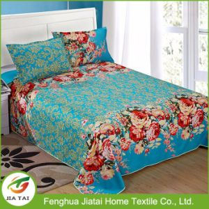 Wholesale Home Polyester Flower Design Single Bed Sheet pictures & photos