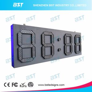 Yellow Color Outdoor Waterproof High Brightness Large LED Clock Sign pictures & photos