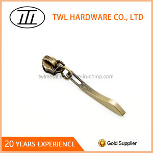 Bronze Metal Header Slider Metal Zipper Puller pictures & photos