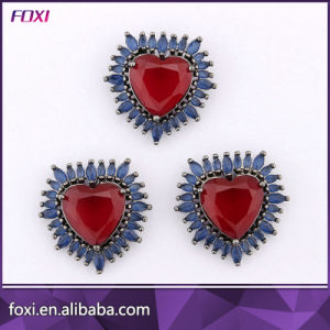 Fashion Ladies Earrings and Necklaces Heart Ruby Jewelry Set pictures & photos