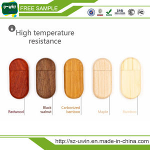 Natural Wooden USB Flash Drive Custom Logo Pendrive pictures & photos