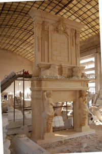 Marble Fireplace Stone Fireplace Double Fireplace Mfp-017 pictures & photos