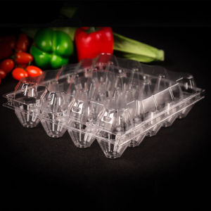 disposable food grade clamshell pet blister packaging tray for eggs pictures & photos