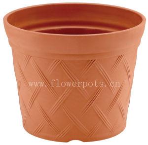 Rattan Plastic Flower Pot (KD7702-KD7704) pictures & photos