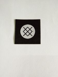Iron-on Backing Damask Woven Label pictures & photos