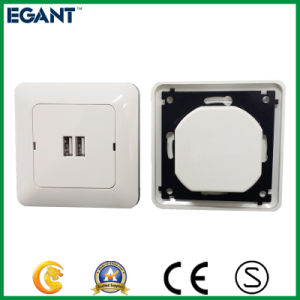 Top Quality Easy Installation 2.4A 2 Gang USB Wall Socket pictures & photos