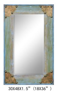 China Made 100% Handpainted Metal Bar Wood Mirror for Home Decoration (item#611701105) pictures & photos