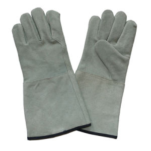 Ab Grade Cow Split Leather Hand Protective Industrial Welder Gloves pictures & photos