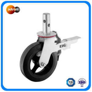 Rubber to Cast Iron Core Wheel Heavy Duty Industrial Caster pictures & photos