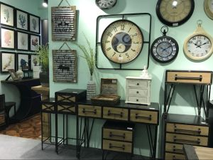 Country Style Wooden Furniture and Metal Clock pictures & photos