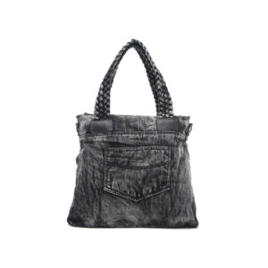 Classic Fashion Grey Denim Satchel Women Bag (MBNO042138) pictures & photos