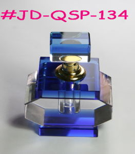 Blue Crystal Glass Perfume Bottle (JD-QSP-134) pictures & photos