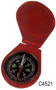 Red Protable Pocket Compass (C4521) pictures & photos