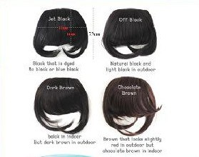 Human Hair Bangs Fringe (HN-F-003)