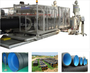 HDPE/PVC Double Wall Corrugated Pipe Extrusion Line pictures & photos