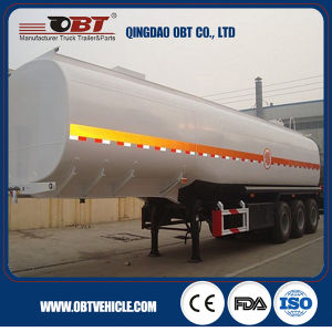 3 Axle 75 Cbm Fuel Oil Tank Truck Semi Trailer pictures & photos
