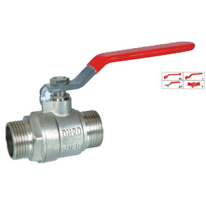Brass Ball Valve (BV-1013) M/M with Steel Handle pictures & photos