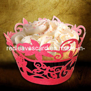 Hot 2011 Red Leaves Laser Cut Cupcake Wrapper (ST0927-11)
