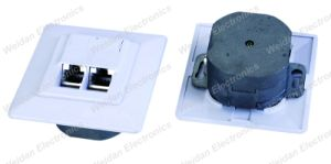CAT6 Dual Port FTP Germany Faceplate/Wall Outlet pictures & photos